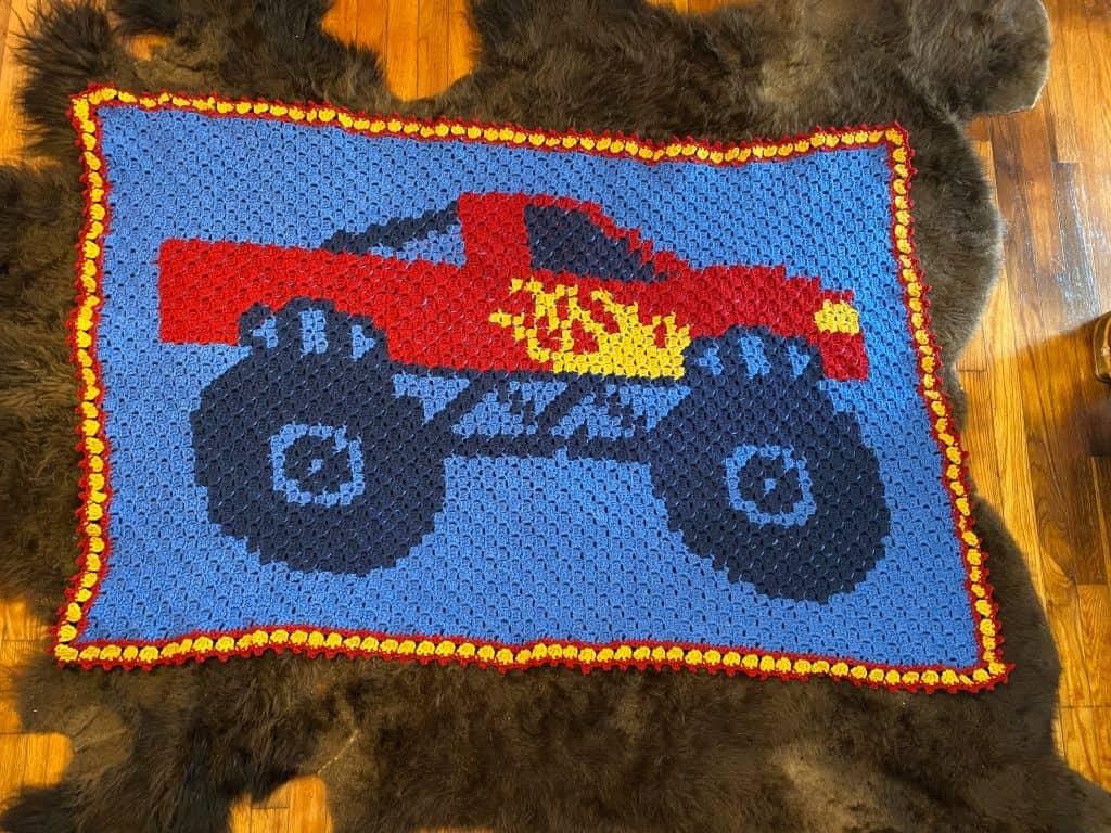Beginner C2C Crochet Monster Truck Pattern