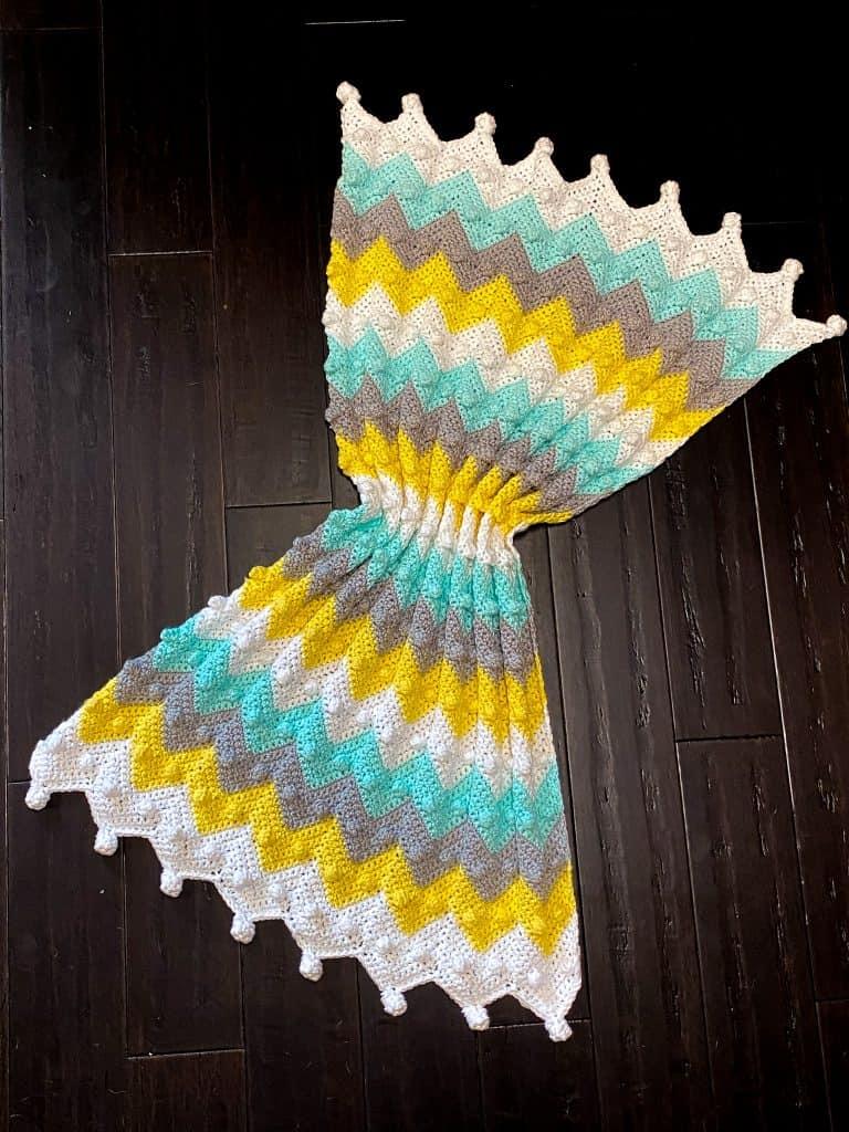 How to crochet the Bobble Chevron Baby Blanket