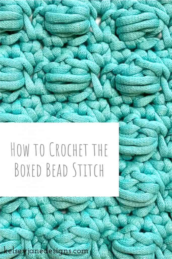 Learn how to crochet the Boxed Bead Stitch (featuring the Slanting Cluster slcl) in this easy to follow YouTube video tutorial.