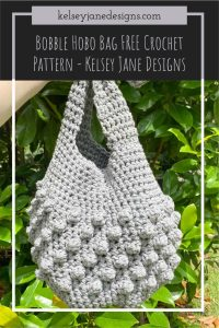 Bobble Hobo Crochet Bag FREE Pattern. Using 2 strands of Lily Sugar n' Cream at once. You'll have this perfect summer bag done in no time and ready for your next adventure!