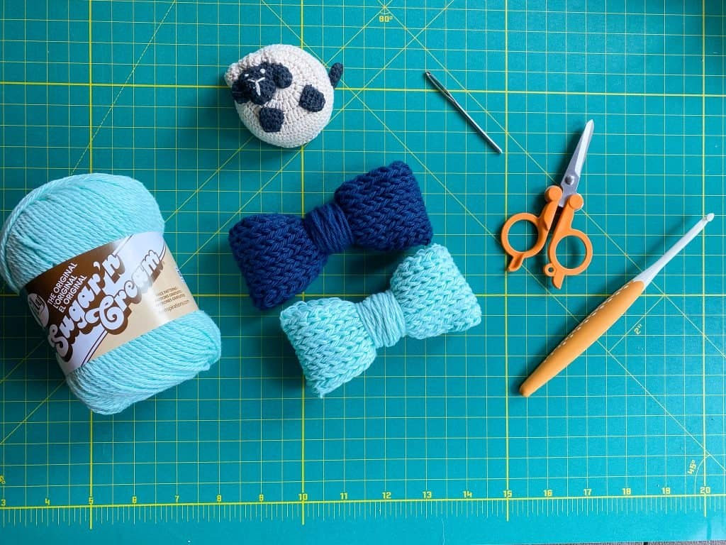 How to Tunisian Crochet a Knit Bow. Kelsey Jane Designs